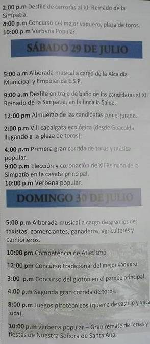 Program fiestasLasierra 3